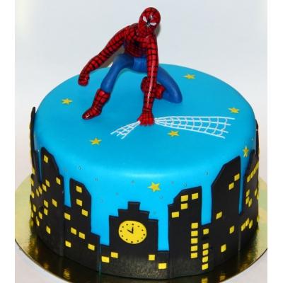 Торт человек паук из мастики